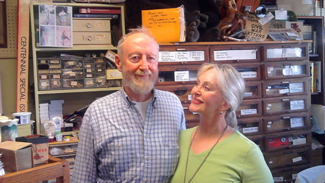 Attic Treasures Antiques owners Joann and Charles Stewart
